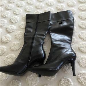 Lauren tall dark brown 3.5 heel boots. 6M